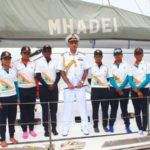 NAVY'S ALL WOMEN  CREW SAILED  5000 MILES IN SAILBOAT MHADEI- CONGRATULATIONS NAVY AND FELICITATIONS TO ADM M P AWATI (retd) WHO EGGED CHIEFS TO PURSUE ROUND THE WORLD SAILING