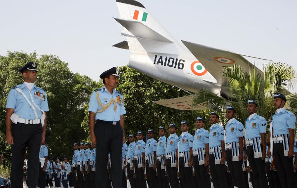 Air Chief Marshal Arup Raha ,  the Chief of  the Air Staff reviewing the Guard of Honour during WAC Station Commanders' Conference at Subroto Park, New Delhi on 30 Apr 14.