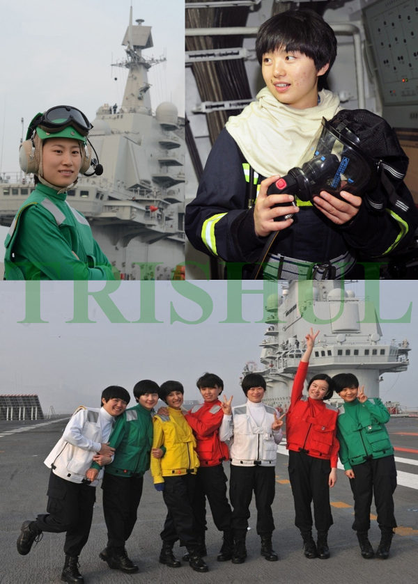 china Liaoning's female crew