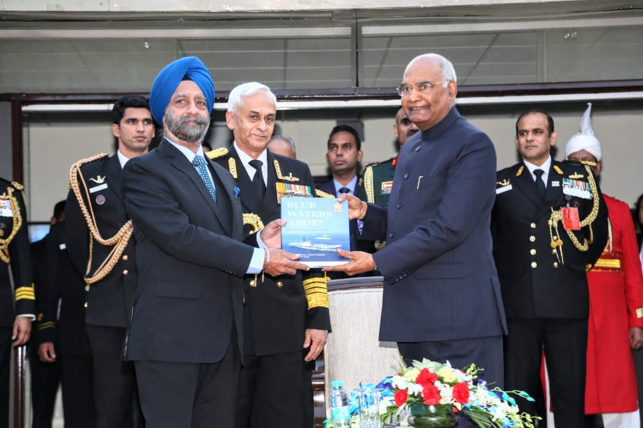 ADM SUNIL LAMBA COMMISSIONED INDIAN NAVY's HISTORY 2001 -2010 TO FOLLOW  EARLIER  FIVE CHRONICLES BUT WITH NO WARS 'BLUE WATERS AHOY' BY ADM ANUP SINGH LISTS THE DECADE OF NAVY'S ACHIEVEMENTS ---BRAVO BRAVO ZULU !